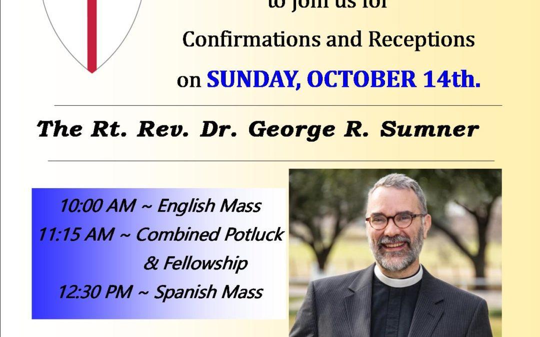Bishop Visit Rev. Dr.  George R. Sumner