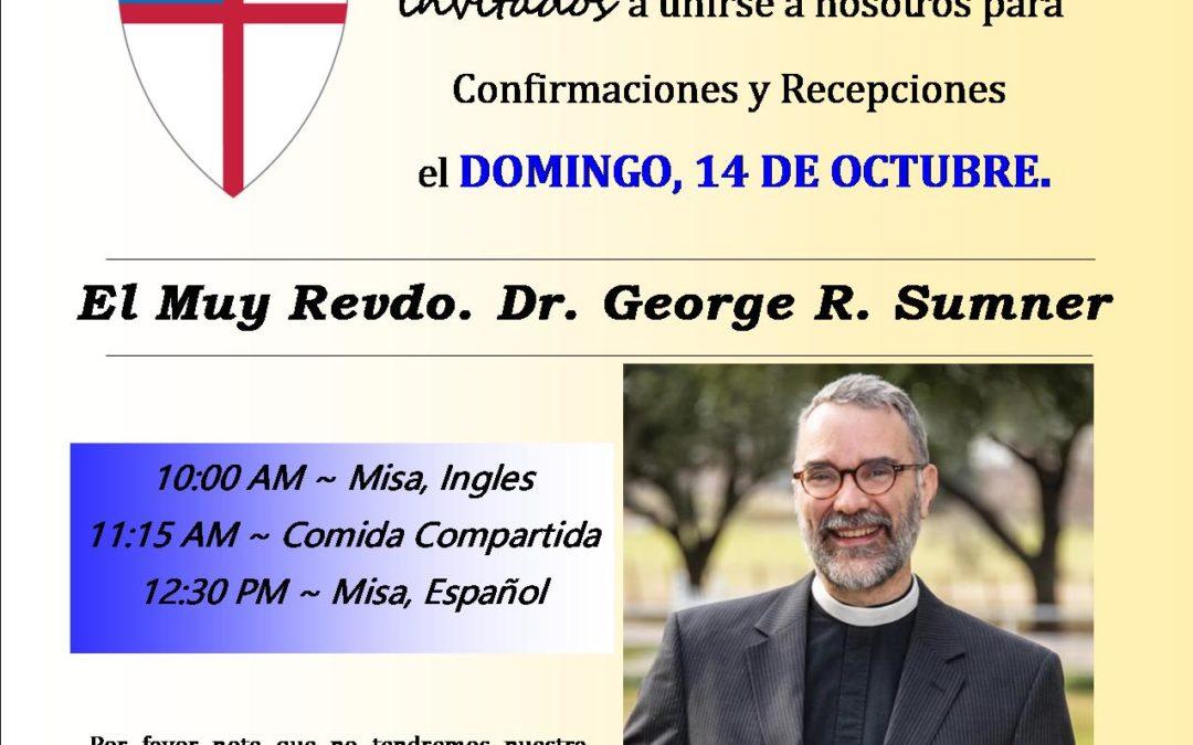 Visita de Obispo Rev. Dr.  George R. Sumner