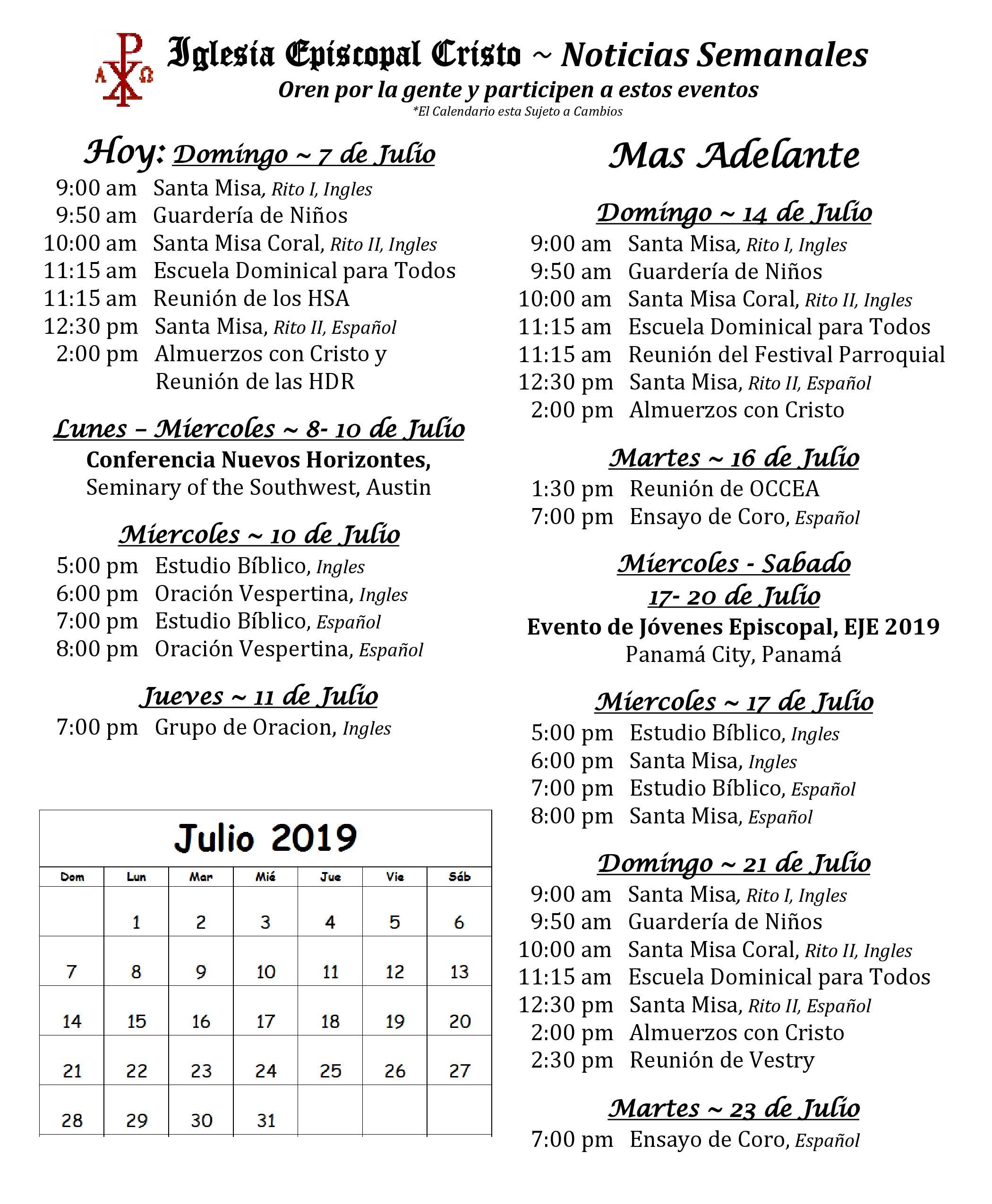 2019 0707 Noticias Semanales 1