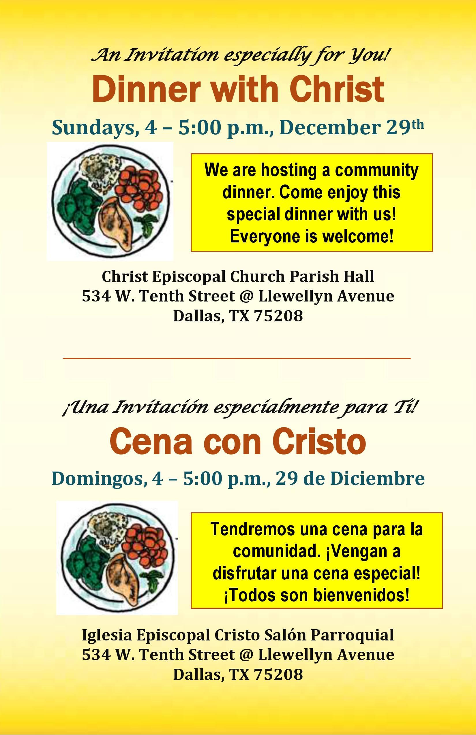 Dinner with Christ ~ Cena con Cristo