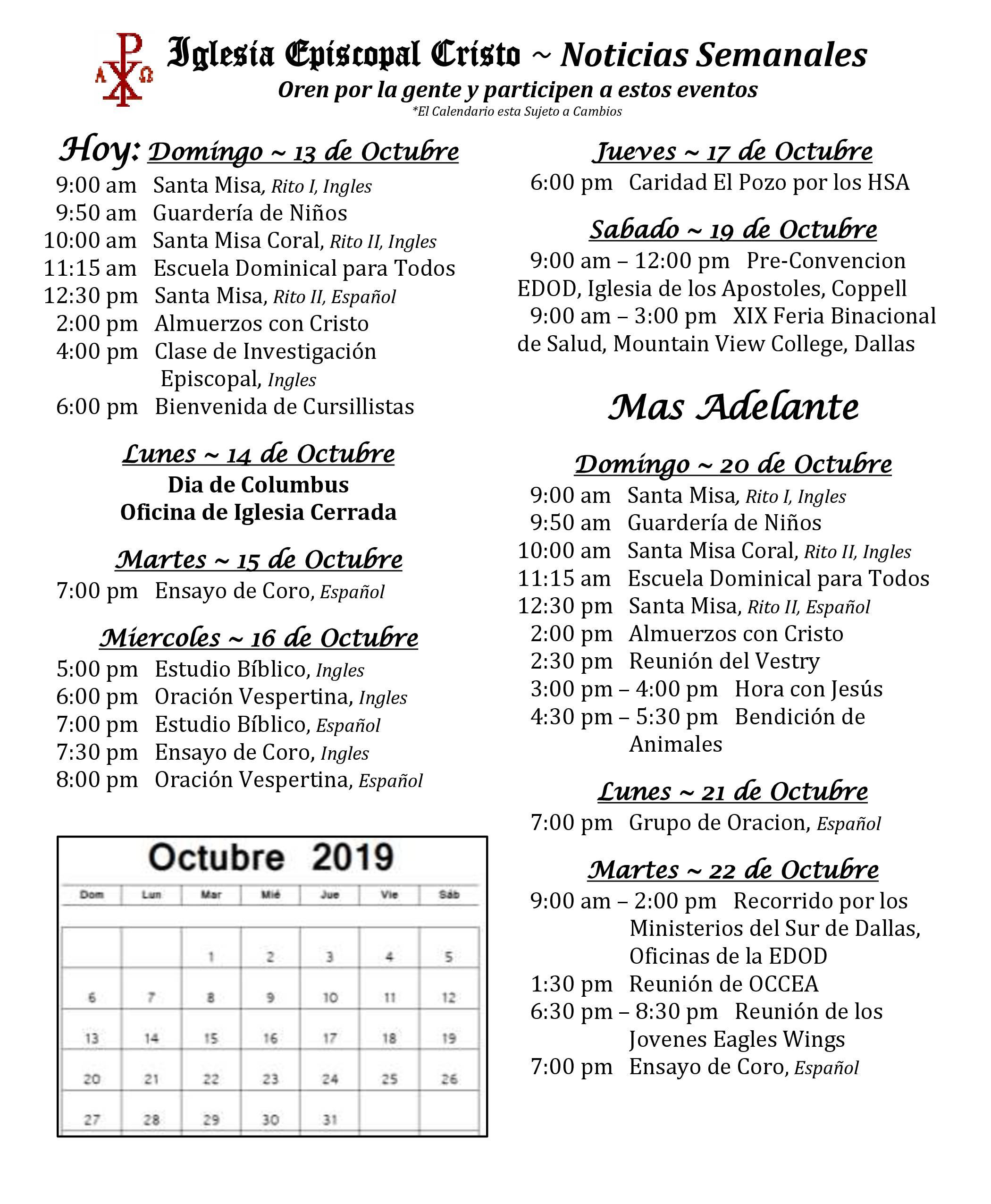 2019 1013 Noticias Semanales 1