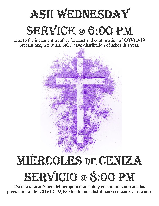 ASH WEDNESDAY ~ MIÉRCOLES DE CENIZA